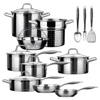 Duxtop SSIB-17 Professional 17-Piece Induction Cookware Set