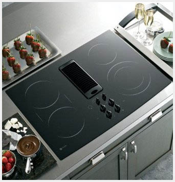 Induction Cooktop With Downdraft